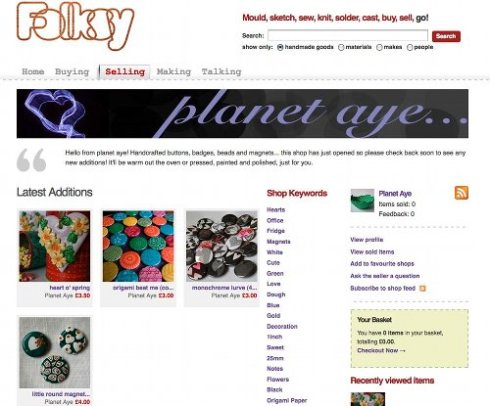 Planet Aye Folksy online shop